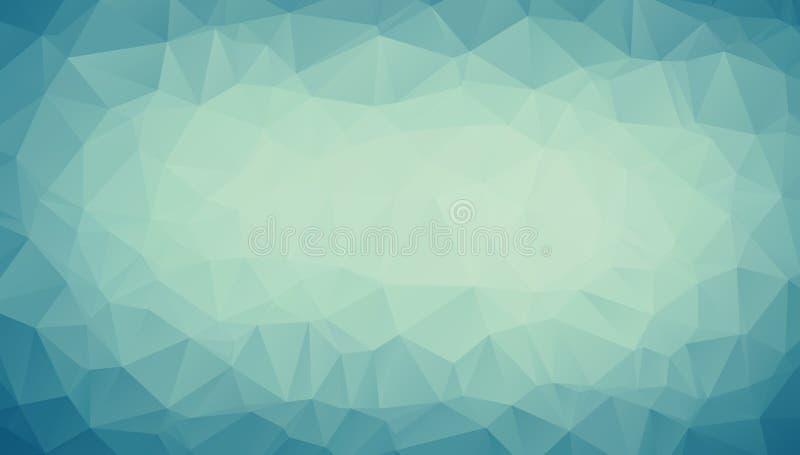 De abstracte Blauwe veelhoekige illustratie van de pastelkleurtoon, wat uit driehoeken bestaan Geometrische achtergrond in Origam royalty-vrije illustratie