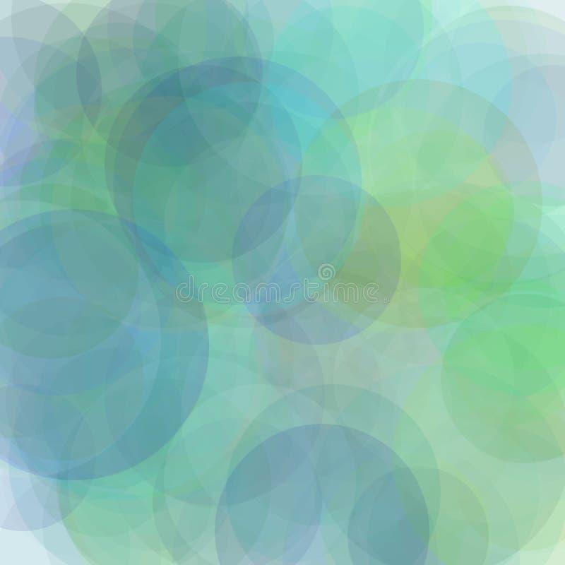 De abstracte blauwgroene grijze achtergrond van de cirkelsillustratie stock illustratie