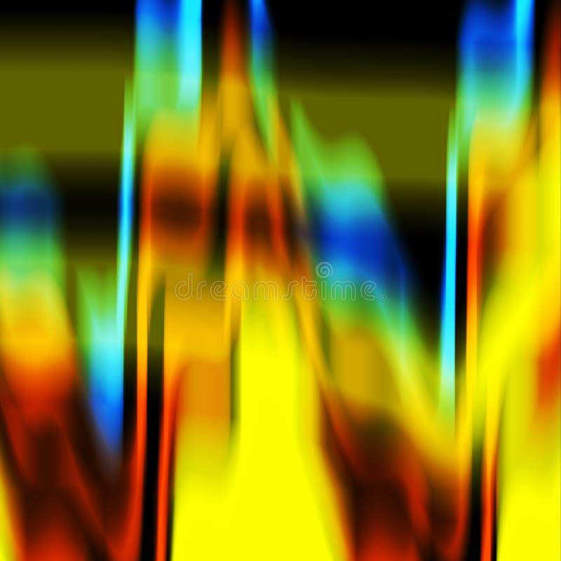 De abstracte blauwgroene oranje donkere gele schaduwenachtergrond, kleuren, stelt abstracte grafiek in de schaduw Abstracte achte vector illustratie