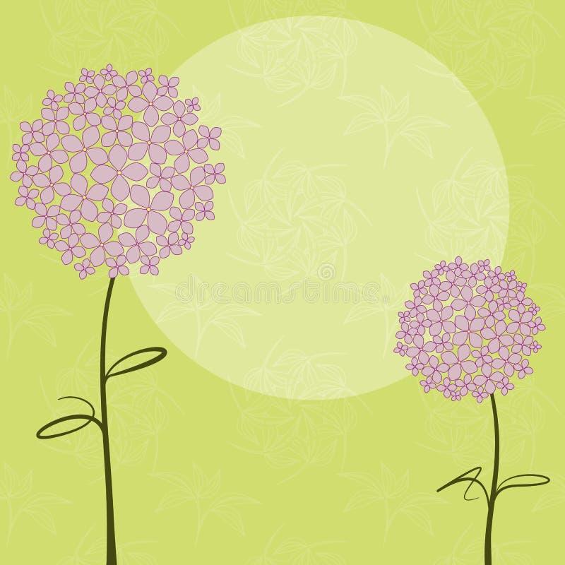 De abstracte bloem van de de lente purpere Hydrangea hortensia royalty-vrije illustratie