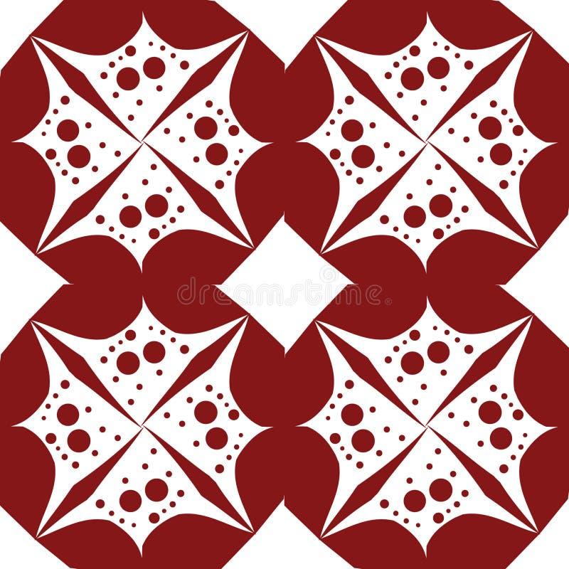 De abstracte bloem van de Patroon rode bel stock afbeelding