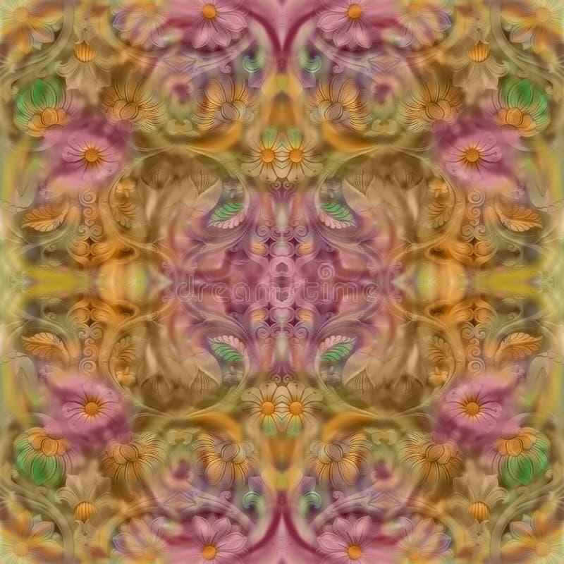 De abstracte bloemen achterkleur van de ontwerproest royalty-vrije illustratie