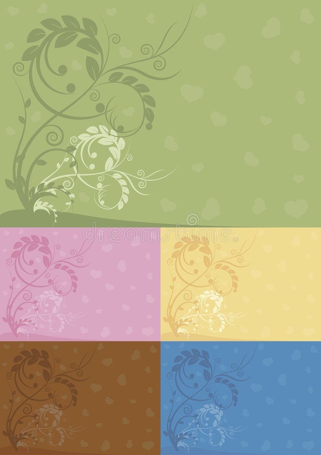 De abstracte bloemenachtergronden van de kleur royalty-vrije illustratie