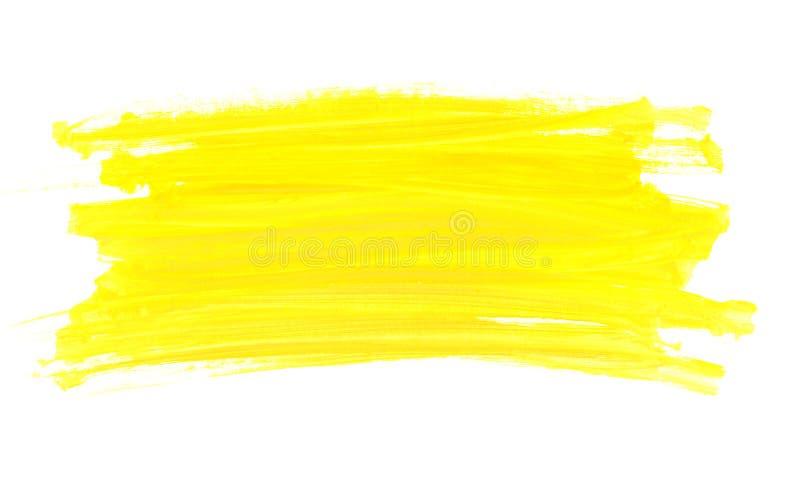 De abstracte borstel van de waterverf gele verf royalty-vrije stock foto's