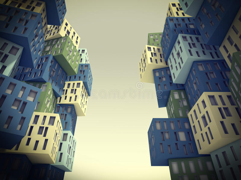 De abstracte bouw vector illustratie