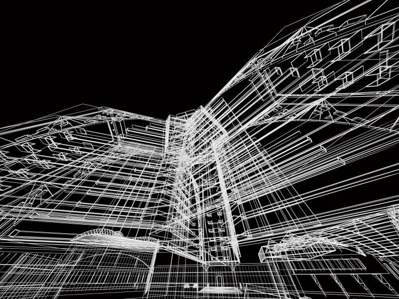 De abstracte bouw stock illustratie