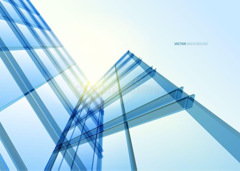 De abstracte bouw van de lijnen royalty-vrije illustratie