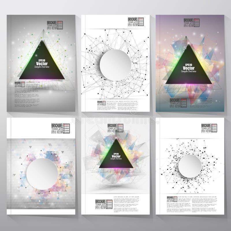 De abstracte brochure, de vlieger of het rapport van het driehoeksontwerp royalty-vrije illustratie