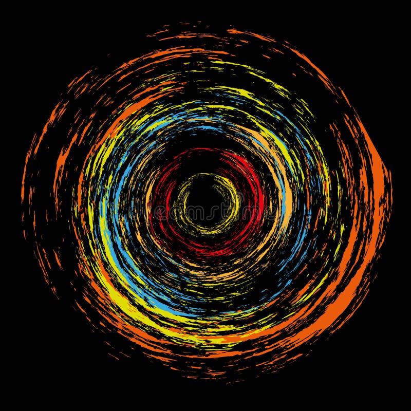De abstracte cirkel van de plasmakleur royalty-vrije illustratie