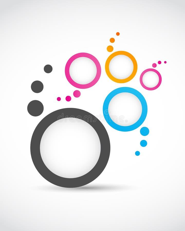 De abstracte cirkels van het embleem vector illustratie