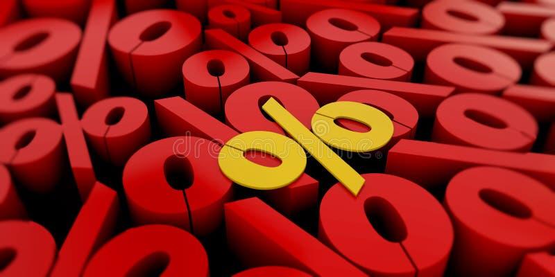 De abstracte 3D aantallen geproduceerde computer als achtergrond geeft terug stock illustratie