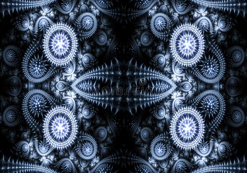 De abstracte 3d computer produceerde uniek modern technologisch fractals ontwerp stock illustratie