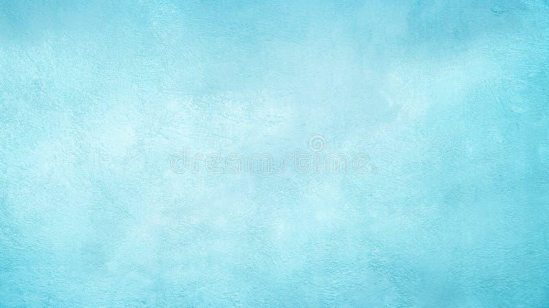 De abstracte Decoratieve Lichtblauwe Cyaan Geschilderde achtergrond van Grunge stock afbeelding