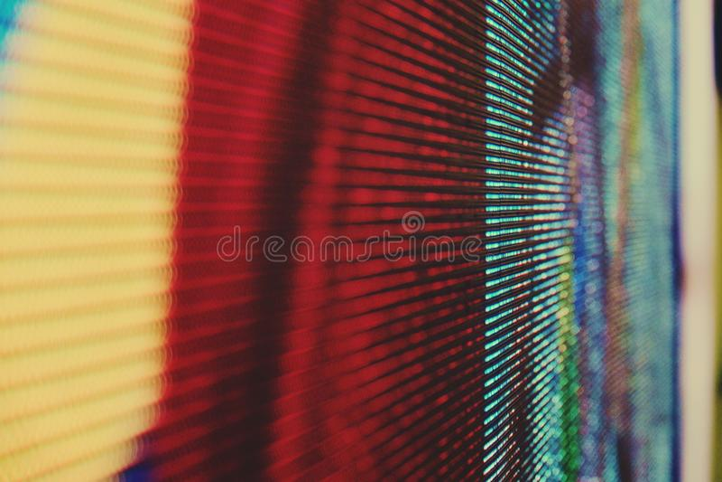 De abstracte Dichte omhoog Heldere gekleurde LEIDENE videomuur abstracte achtergrond van SMD stock foto's