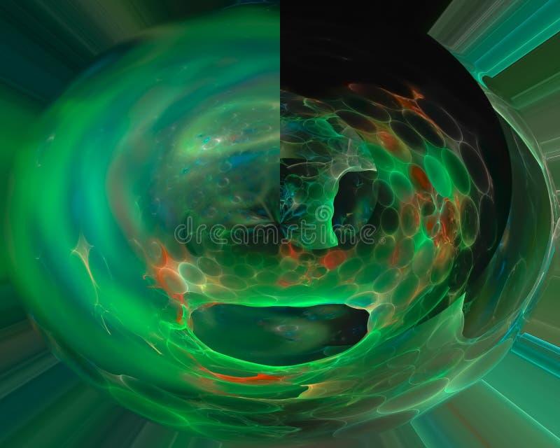 De abstracte digitale fractal futuristische wetenschap van de patroon moderne, surreal achtergrond stock illustratie