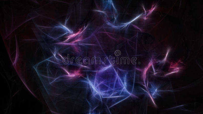 De abstracte donkere achtergrond van de chaosenergie met kleine flitsen stock afbeeldingen