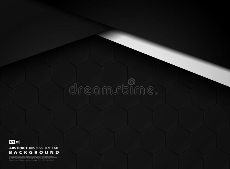 De abstracte donkere achtergrond van de malplaatjetechnologie van hexagonaal patroon Illustratie vectoreps10 vector illustratie