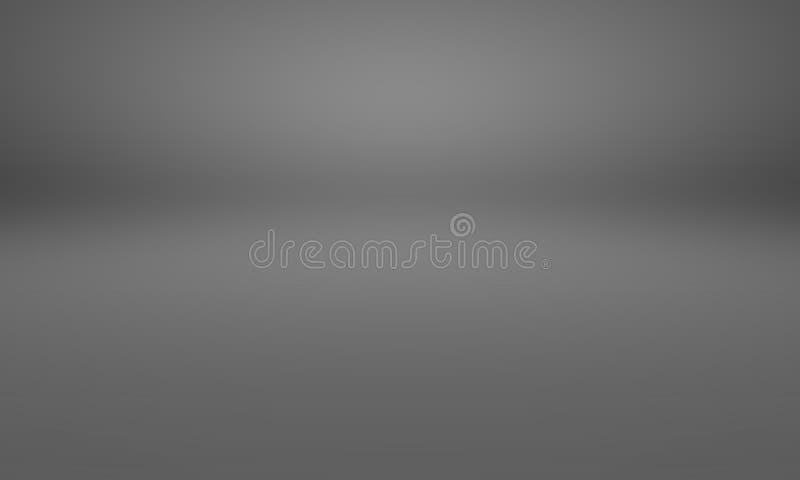 De abstracte donkere grijze en zwarte die gradiënt van het luxeonduidelijke beeld, als achtergrondstudiomuur voor vertoning uw pr royalty-vrije illustratie