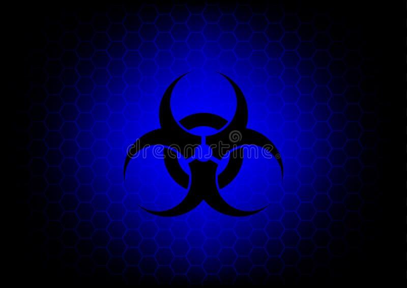De abstracte donkerrode achtergrond van het biohazardsymbool stock illustratie