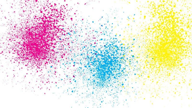 De abstracte drie kleuren ploeteren patroon stock illustratie