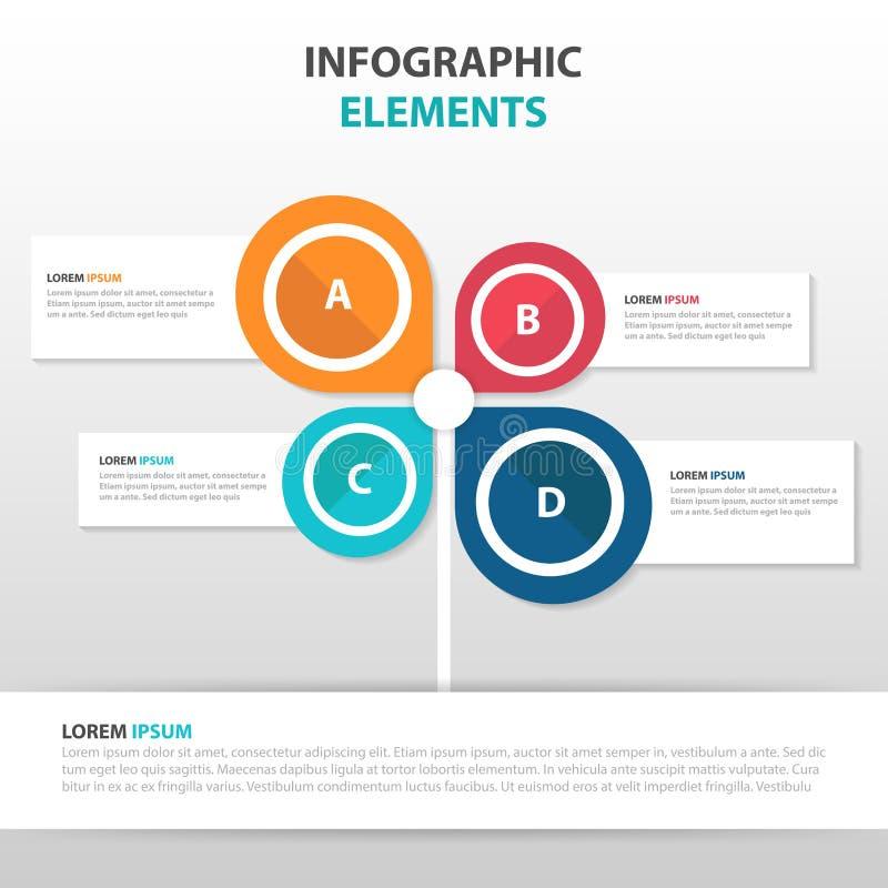 De abstracte elementen van de bedrijfs pijlboom van Infographics, vlakke het ontwerp vectorillustratie van het presentatiemalplaa royalty-vrije illustratie