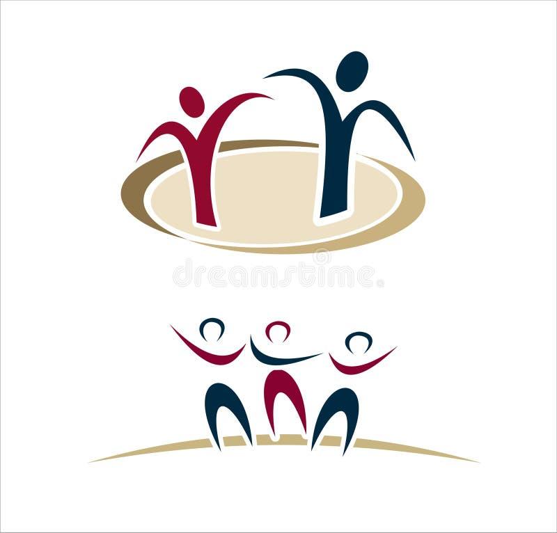 De abstracte Emblemen van Mensen royalty-vrije illustratie