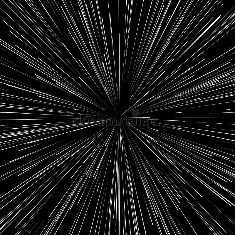 De abstracte explosie, uitbarsting, stralen, stralen, flits, schittert, vuurwerk stock illustratie