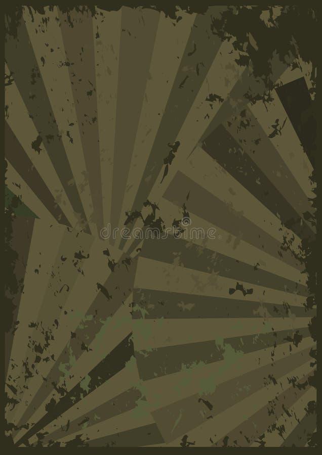 De abstracte Fan Grunge voelt Paper_eps stock illustratie