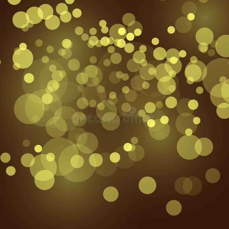 De abstracte feestelijke achtergrond met bokeh defocused lichten, vectorillustratie