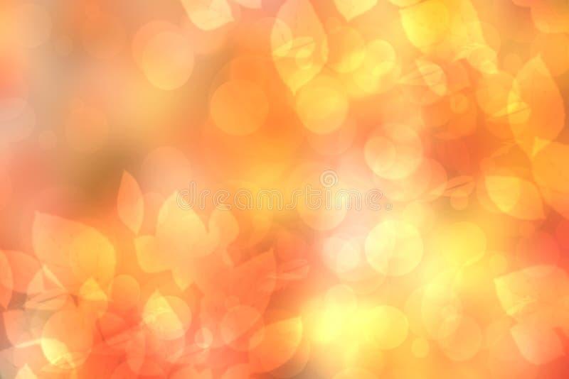 De abstracte feestelijke de pastelkleur van de onduidelijk beeld heldere gradiënt oranjegele textuur als achtergrond met gloeiend royalty-vrije illustratie