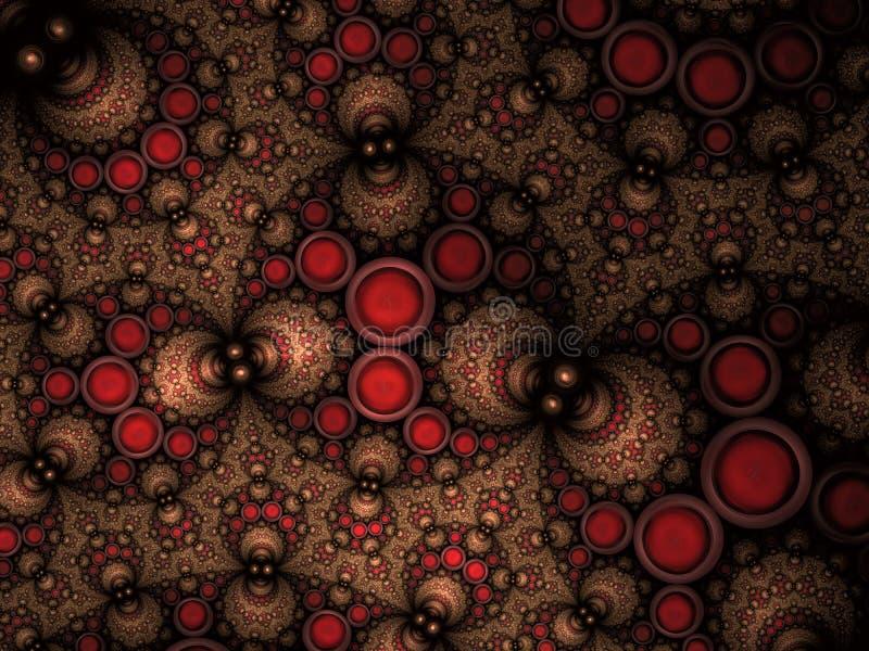 De abstracte Fractal Achtergrond van het de Pakkingspatroon van Apollonian stock illustratie