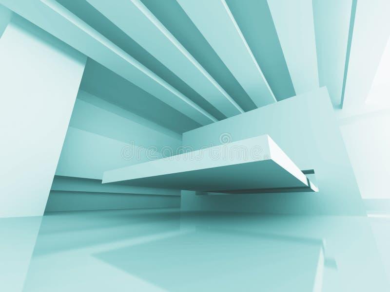 De abstracte Futuristische Achtergrond van de Ontwerparchitectuur stock illustratie