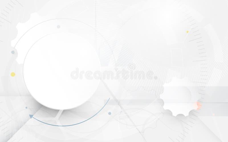 De abstracte futuristische achtergrond van de krings en geavanceerd technische computer stock illustratie