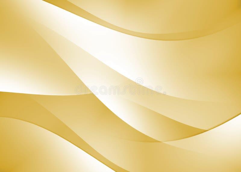 De abstracte gele achtergrond van de krommetextuur vector illustratie