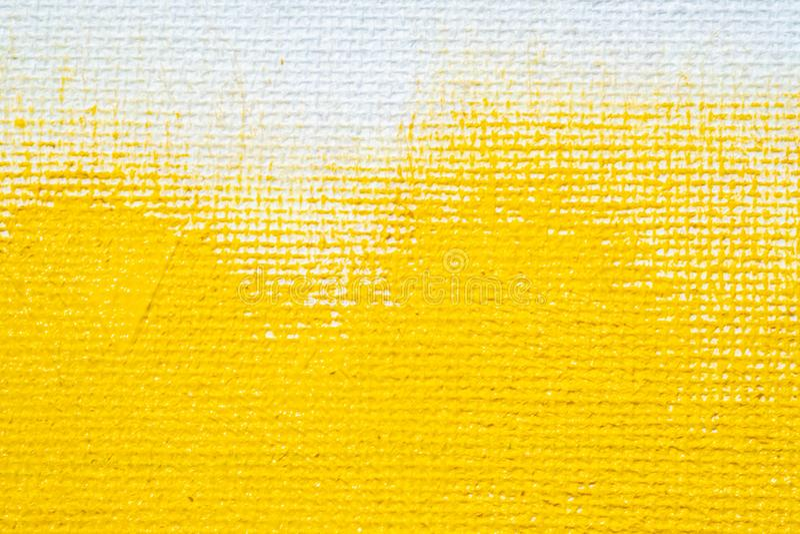 De abstracte gele gele kleur van de achtergrond witte grungegrens met witte canvasranden, uitstekende grungetextuur als achtergro royalty-vrije stock foto
