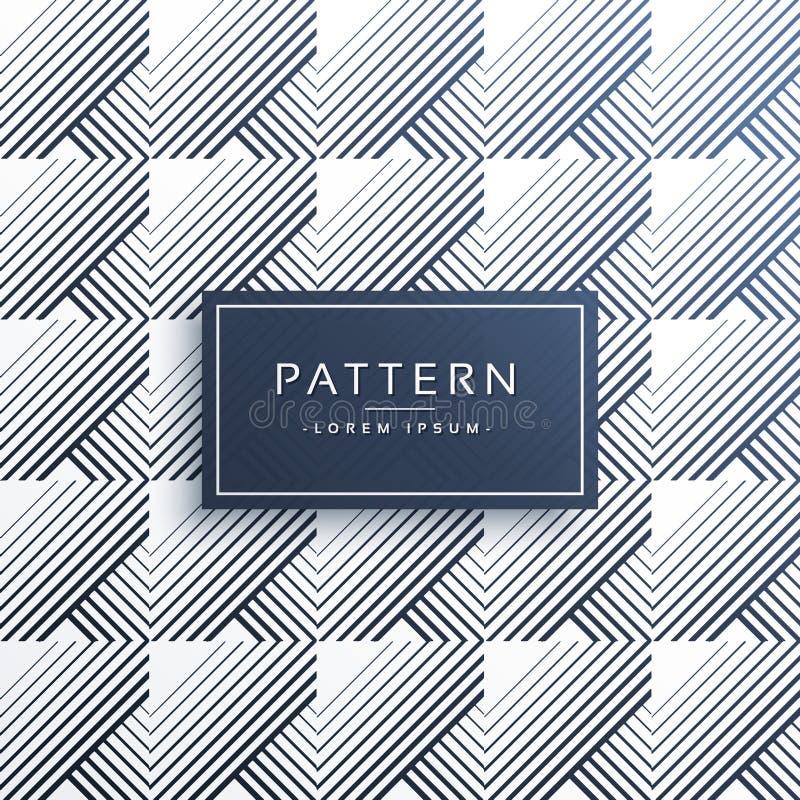 De abstracte geometrische achtergrond van het lijnenpatroon stock illustratie