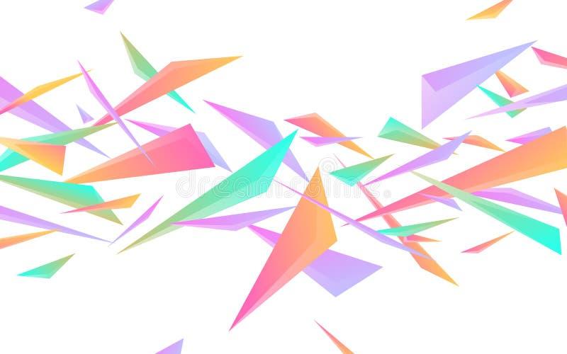 De abstracte geometrische dynamische zachte gradiënt gekleurde textuur van driehoeksvormen royalty-vrije illustratie