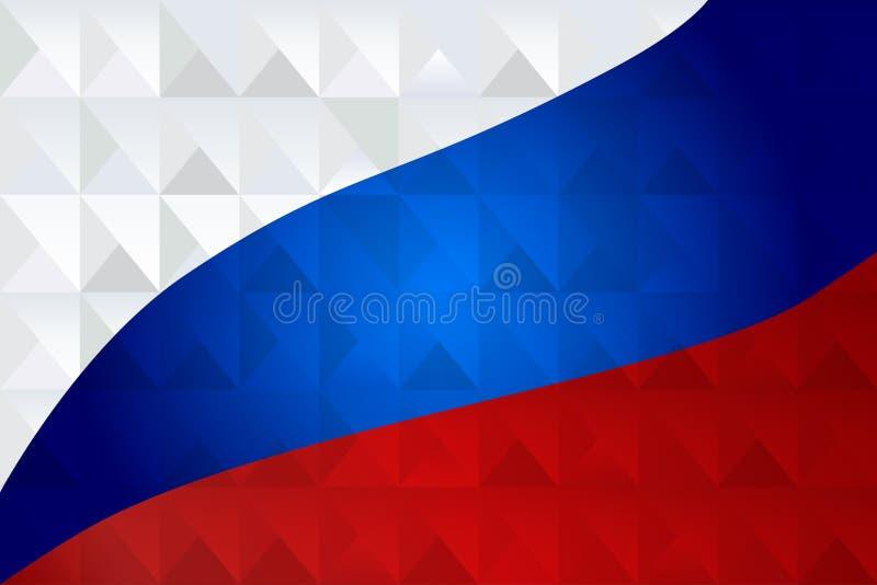 De abstracte geometrische patriottische achtergrond van het driehoeksmozaïek royalty-vrije illustratie