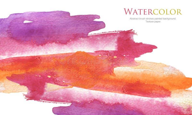 De abstracte geschilderde achtergrond van de waterverfborstel slagen Textuurpa stock fotografie