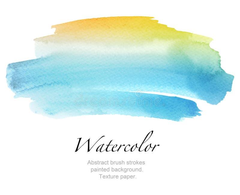 De abstracte geschilderde achtergrond van de waterverfborstel slagen Textuurpa stock afbeelding