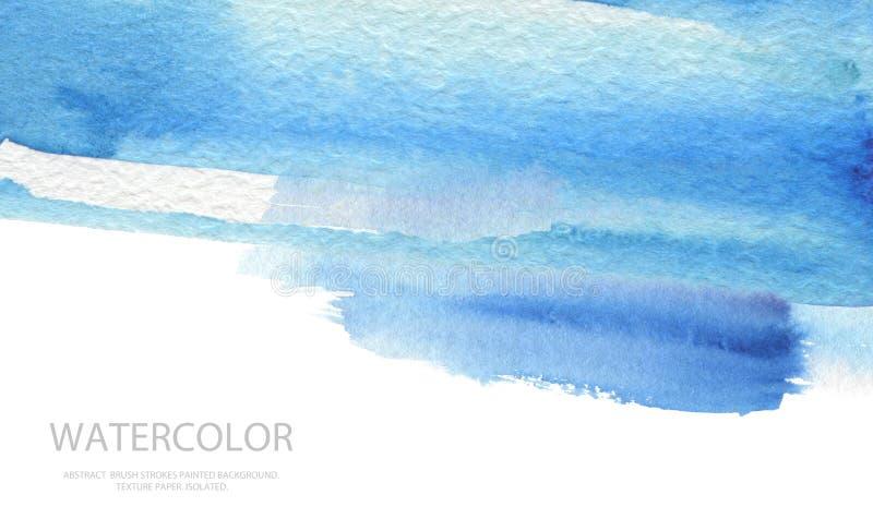 De abstracte geschilderde achtergrond van de waterverfborstel slagen Textuurpa stock afbeeldingen