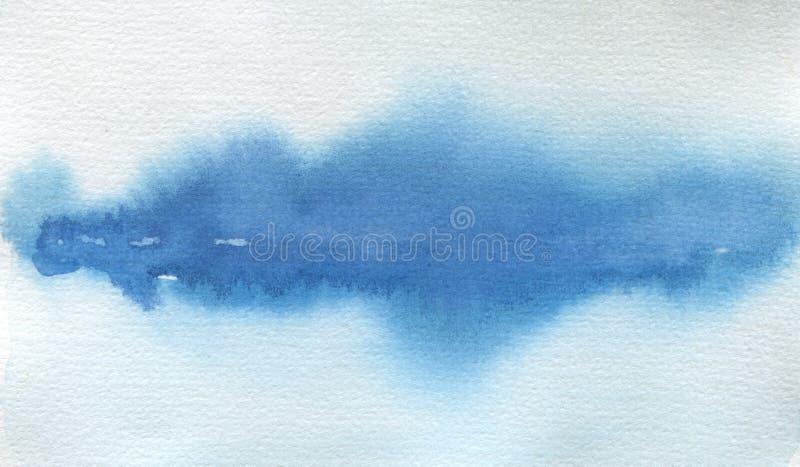 De abstracte geschilderde achtergrond van het waterverflandschap vlek Textuur royalty-vrije stock afbeelding
