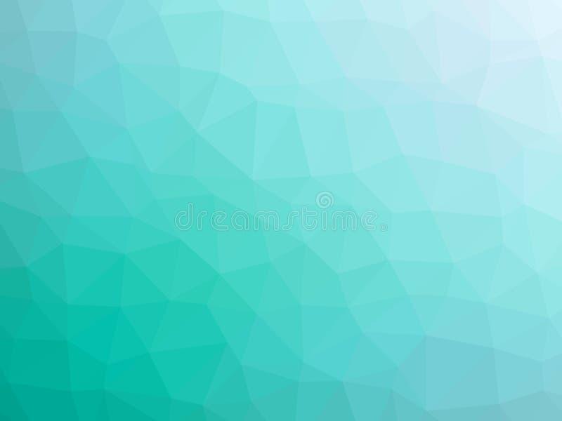 De abstracte gestalte gegeven achtergrond van de wintertalings witte gradiënt veelhoek stock illustratie