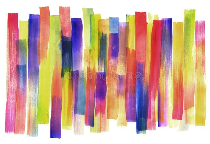 De abstracte gestreepte vlek van de waterverfvlek voor achtergrond Ge?soleerdj op witte achtergrond royalty-vrije stock foto's