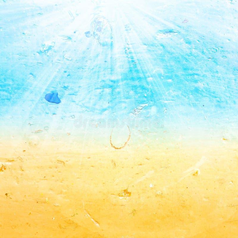 De abstracte geweven achtergrond van de zeewaterzomer met de zomerstraal stock foto's