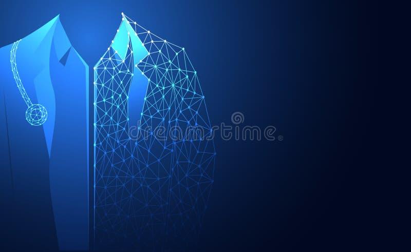 De abstracte gezondheids medische wetenschap bestaat artsen digitale technolog vector illustratie