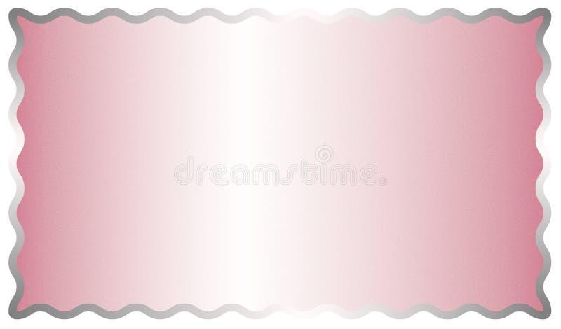 De abstracte Glanzende Roze Geborstelde Achtergrond van de Metaaloppervlakte met een Zilveren Kader stock illustratie
