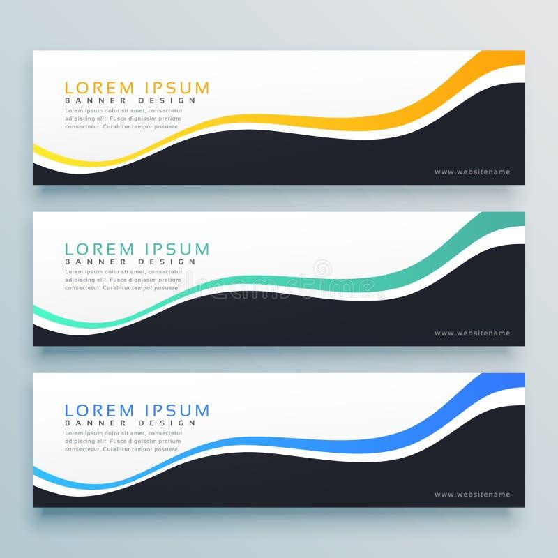 De abstracte golvende achtergrond van het bannerontwerp het concept van de websitekopbal vector illustratie