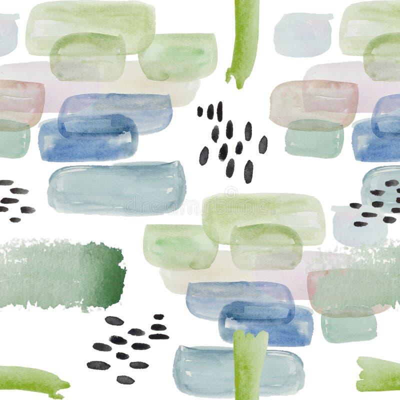 De abstracte grafiek van het waterverfpatroon vector illustratie
