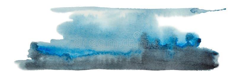 De abstracte grafiek van waterverfillustraties stock illustratie